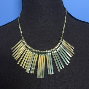 Boho Gold-Tone Collar Statement Necklace